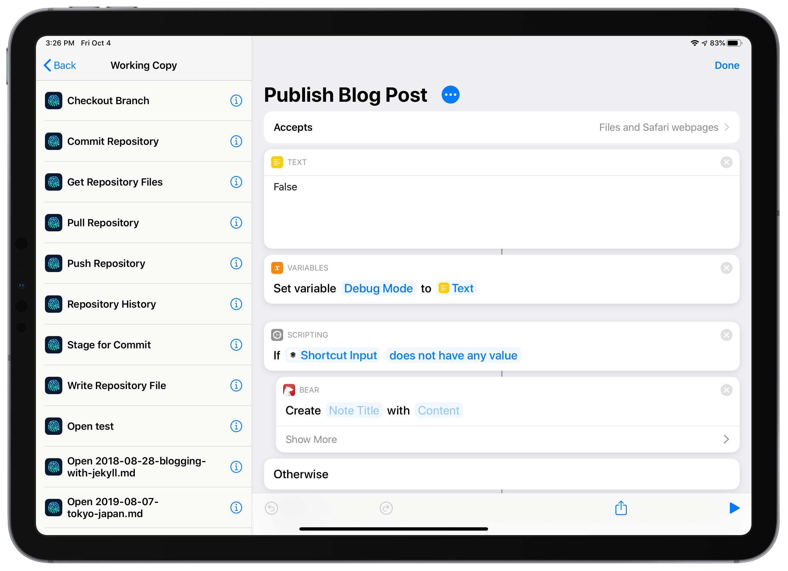 Publish Blog Post Shortcut
