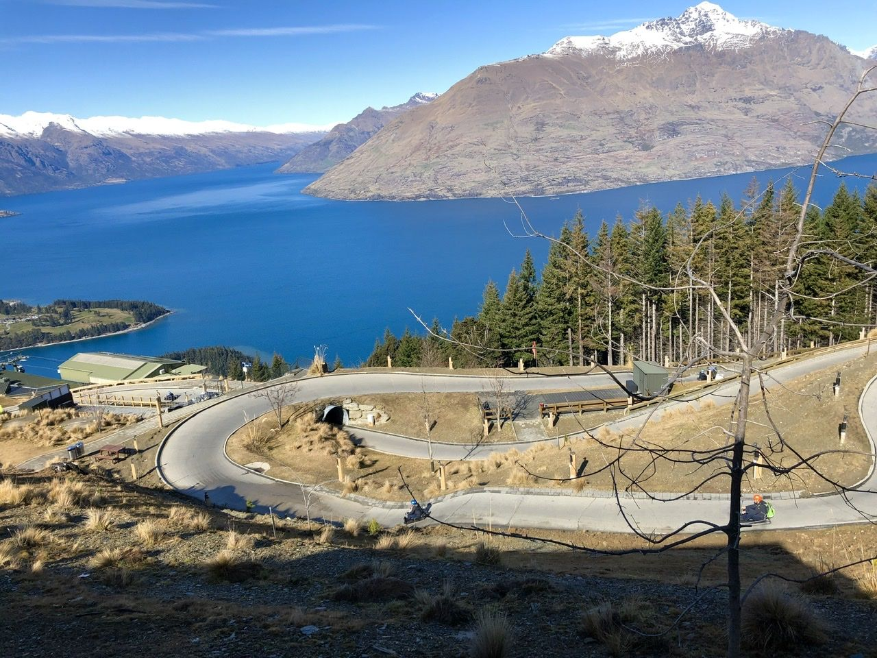 Luge at the top of the mountain